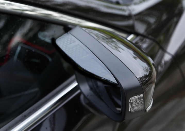 2 قطع لمازدا atenza CX-5 cx-4 سيارة مرآة الرؤية الخلفية المطر الحاجب ألياف الكربون نمط تزيين