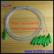 1×8 Puertos SC/APC SM Mini PLC Splitter, FTTH accesorios Para GPON/EPON OLT con conectores 10 unids/lote