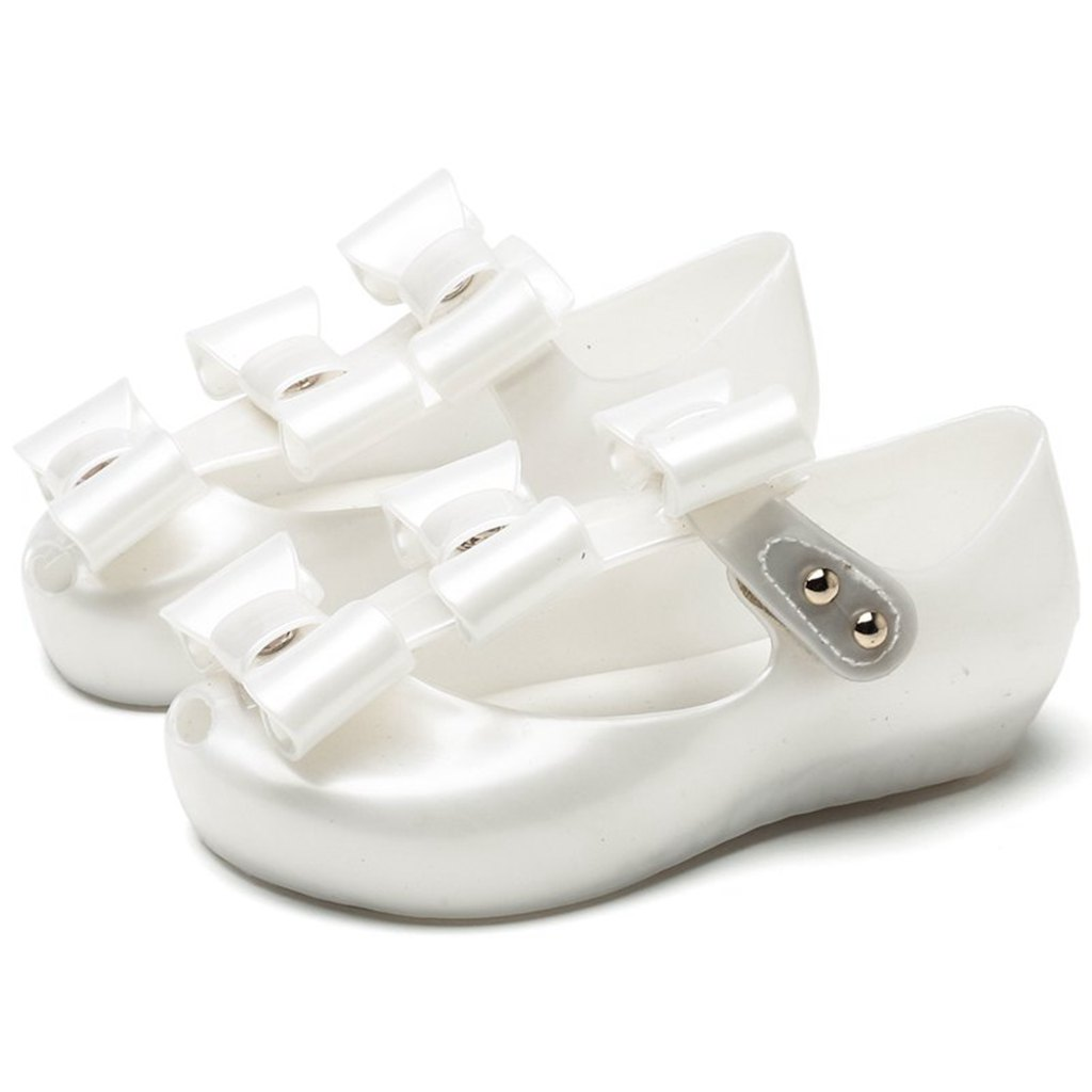 Melissa Kid Beach Sandals 3 Pairs Bowknot Mini Kids Shoes 2018 New Summer Mary Jane Sweet Children Cute Buckle(Toddler)