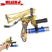 1Set Multi function Archery Laser Sight Bowfishing Shooting Fish Slingshot Folding Wrist Catapult Hunting Outdoor Accessories