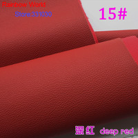 15 Deep Red Micro Lychee Pattren High Quality 1 2mm Thick PU Leather Fabric For DIY