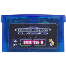 106 in 1 Gamepad game card gba cartridge box drive for Sega Master System for GBA Nintendo Advance SP NDS Multicart Games Card цена