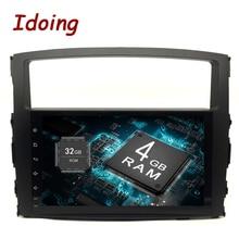 """Idoing """" Android 9,0 4G+ 32G 8Core 2Din руль для MITSUBISHI PAJERO V97 автомобильный мультимедийный плеер быстрая загрузка gps+ ГЛОНАСС"""