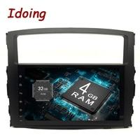 Idoing 9 Android 8,0 4 г + 32 г 8 Core 2Din руль для MITSUBISHI PAJERO V97 автомобильный мультимедийный плеер быстрая загрузка gps + ГЛОНАСС ТВ