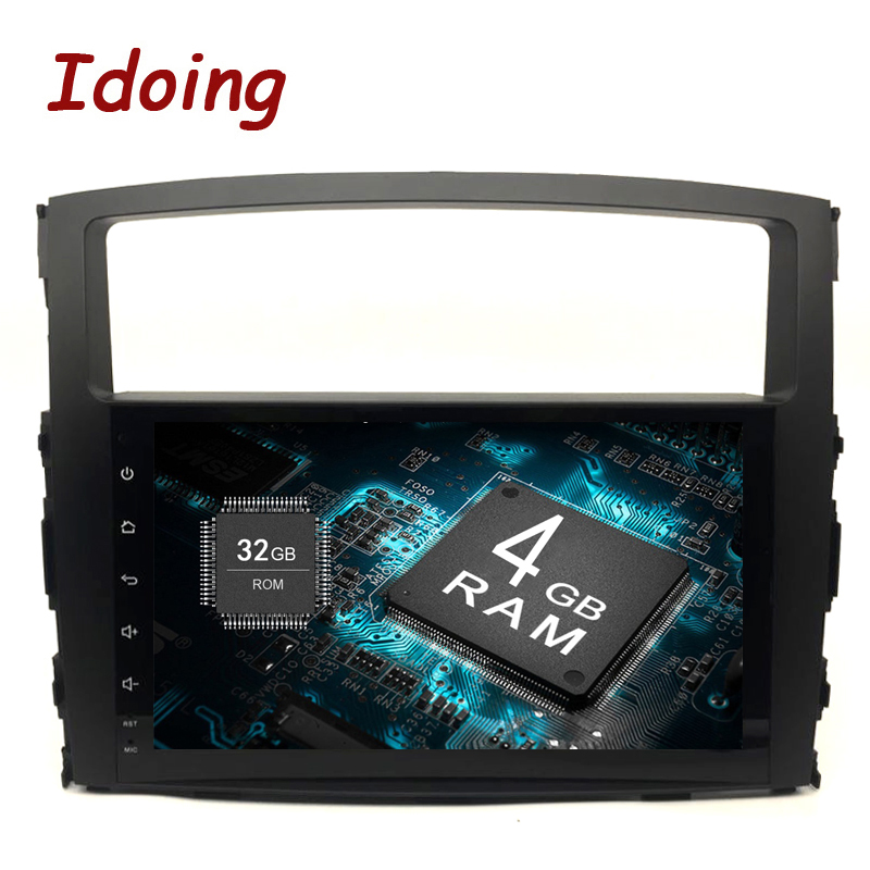 Idoing 9Android 9.0 4G+32G 8Core 2Din Steering-Wheel For MITSUBISHI PAJERO V97 Car Multimedia Player Fast Boot GPS+Glonass