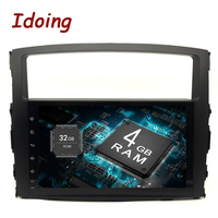 Idoing 9Android 9.0 4G+32G 8Core 2Din Steering Wheel For MITSUBISHI PAJERO V97 Car Multimedia Player Fast Boot GPS+Glonass