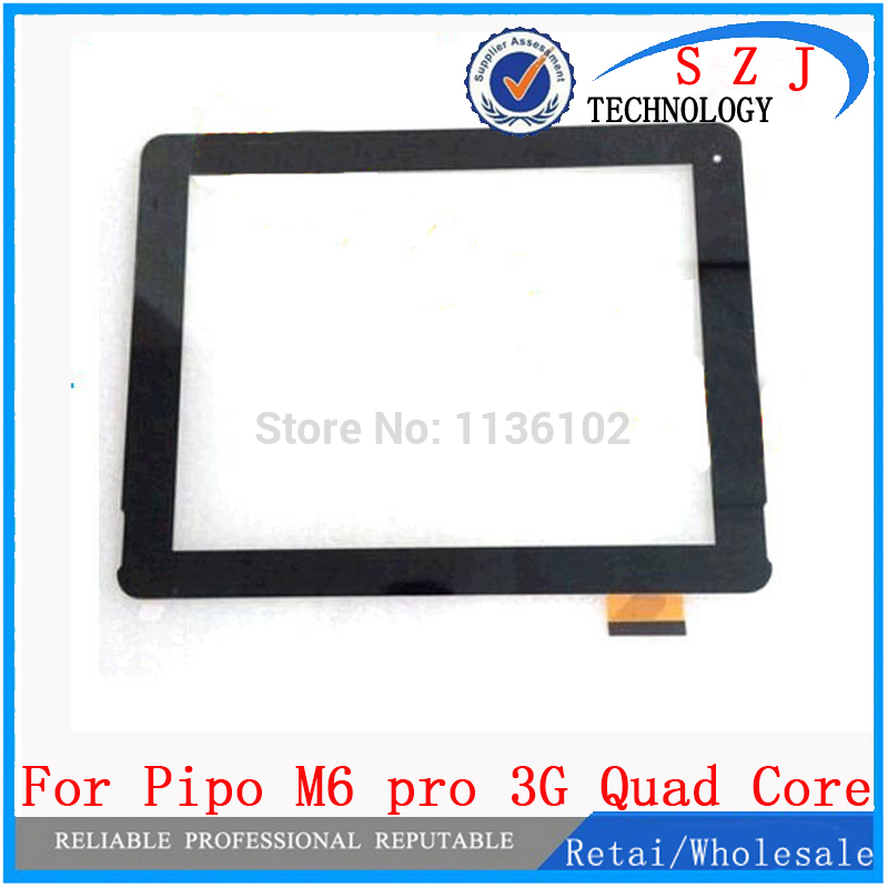 New 9.7 inch for Pipo M6 pro 3G Quad Core Digitizer Glass IPS Tablet PC MID Touch Screen Panel Sensor Screen Free Shipping new 9 inch touch screen digitizer glass for denver taq 90022 tablet pc free shipping