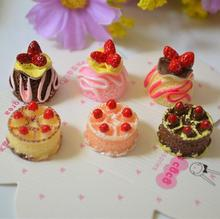 Strawberry Cake Theme Resin Accessories Mobile Phone Shell DIY Material Refrigerator Stickers Home Decoration