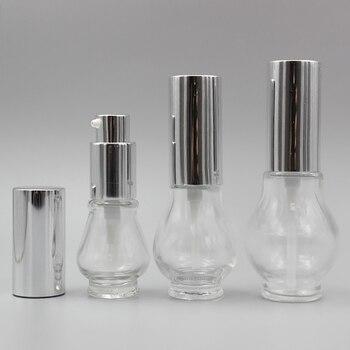 30ml Lotion Clear Glass Empty Bottle,Pump for Shaving Cream Bottle