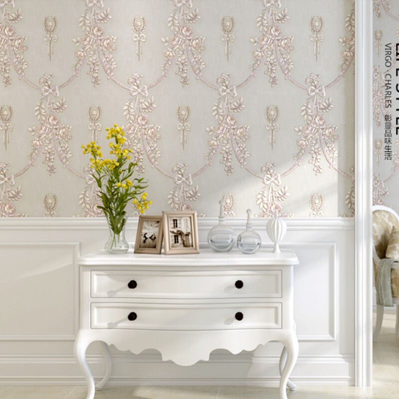 Beibehang Modern European 3d Wallpaper Relief Large Flower 3D Living Room Room Background Wallpaper Home Decoration papel parede royal noble roses simulation flowers european living room large flower rose home decoration flowers