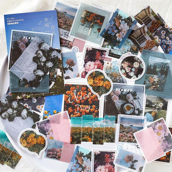 40Pcs Stickers Collage Stationery Scrapbooking DIY Diary Album Journal Label New
