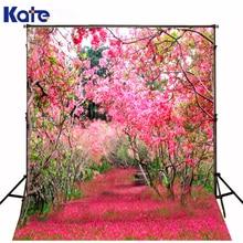 Kate rosa jardim fotografia 5x7ft fundos rose flor pastagem camera fotografica para estúdio de fotografia de casamento fundos