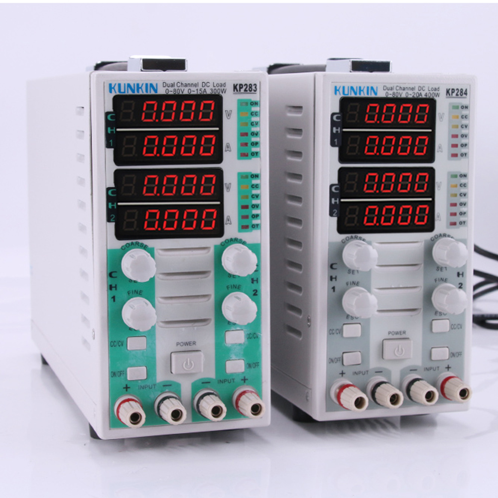 KP284 KP283 Dual channel Electronic DC Load Battery Capacity tester Load meter LED drive power LED Display Load Meter цена