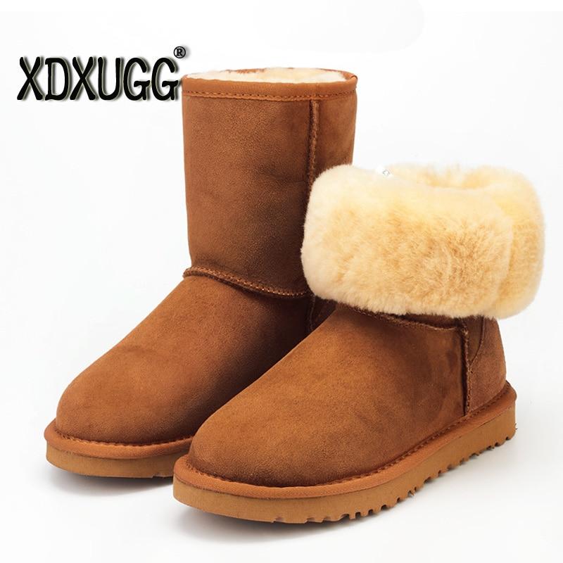 Garantie matérielle/simuler une perte de dix! un mouton de fourrure neige bottes/veau femelle haute hiver chaud classique bottes, grande taille/livraison gratuite