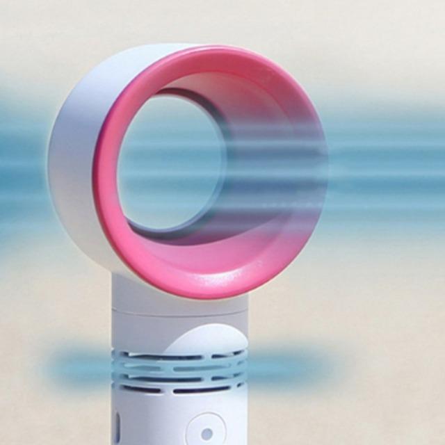Zero9 USB Rechargeable Portable Bladeless Fan Handheld Mini Cooler No Leaf Handy Fan With 3 Fan Speed Level LED Indicator