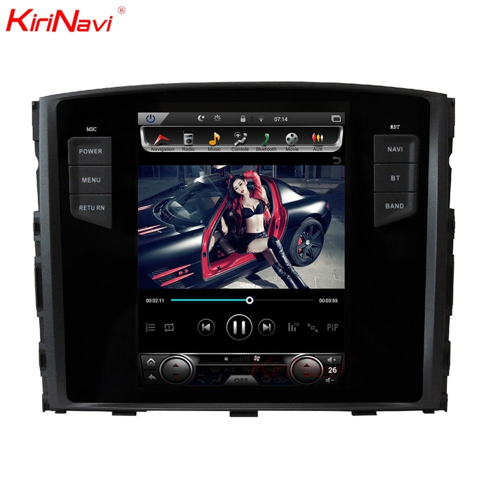 KiriNavi Vertical Écran Tesla Style Android 7.1 10.4 Voiture Radio Pour Mitsubishi Pajero Multimédia DVD GPS Soutien Rockford Système