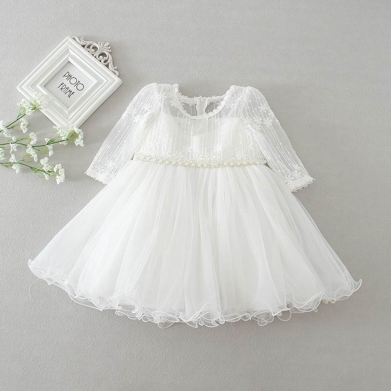 Us 7031 11 Offgroßhandel Neugeborenen Baby Mädchen Taufe Kleid Infant Mädchen Prinzessin Spitze Langarm Taufe Kleid Kleinkind Baby Kleidung