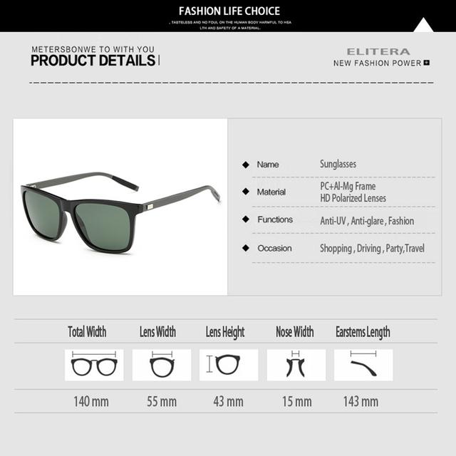 ELITERA Aluminum Magnesium Polarized Sunglasses