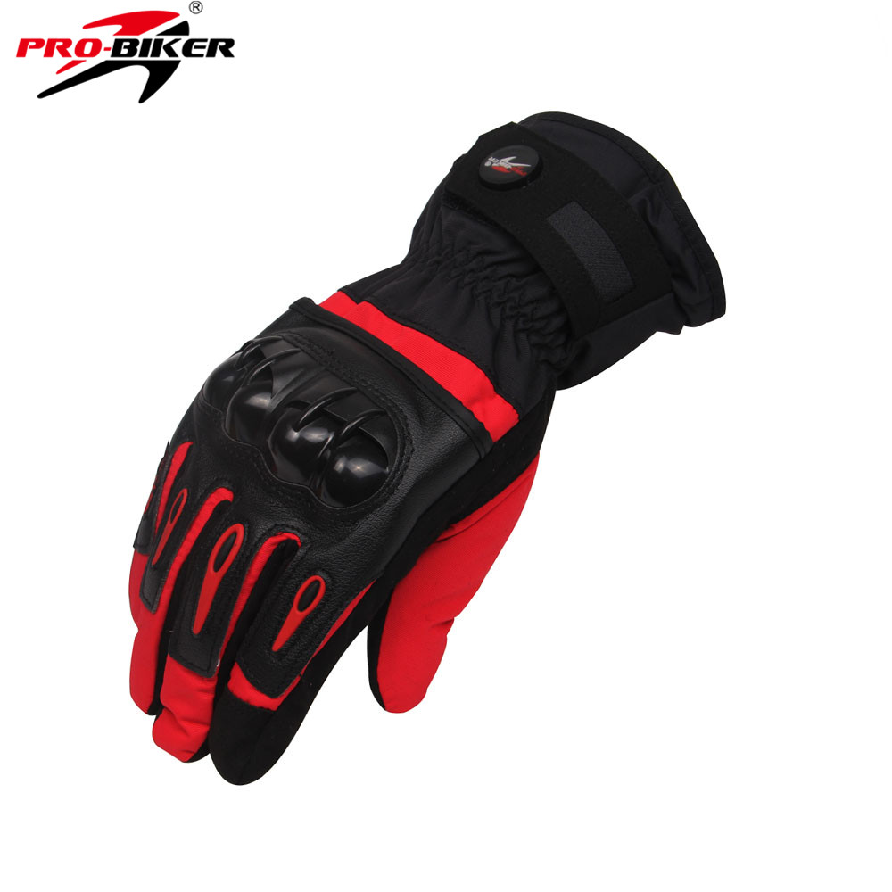 PRO-BIKER Motorcycle <font><b>Gloves</b></font> Waterproof Winter Moto Luvas Skiing Motocross Racing Guantes Moto <font><b>Gloves</b></font> Windproof Guantes Luvas