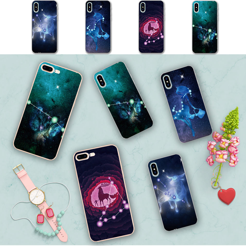 Minason Fantastic Geometrical Signs Of The Zodiac Clear Soft Silicone Phone Case for iPhone X 5 S 5S SE 6 6S 7 8 Plus Cover
