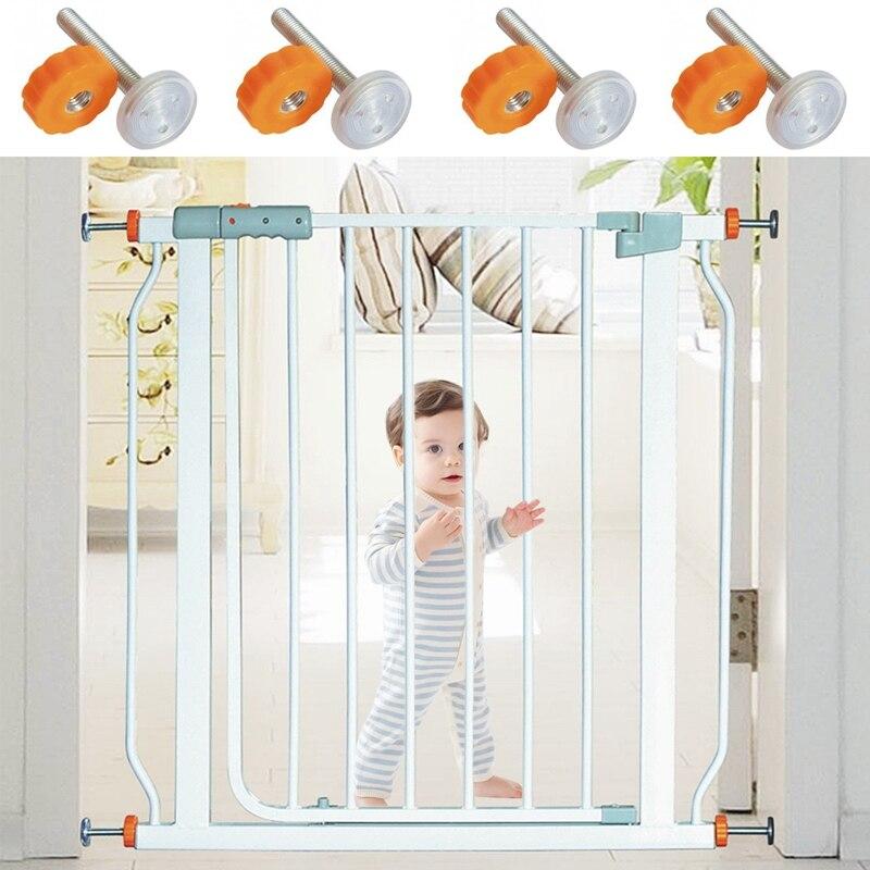 4pcs Pressure Baby Gate Screw Threaded Spindle Rods Walk Thru Gates Accessory - M10 X 10MM