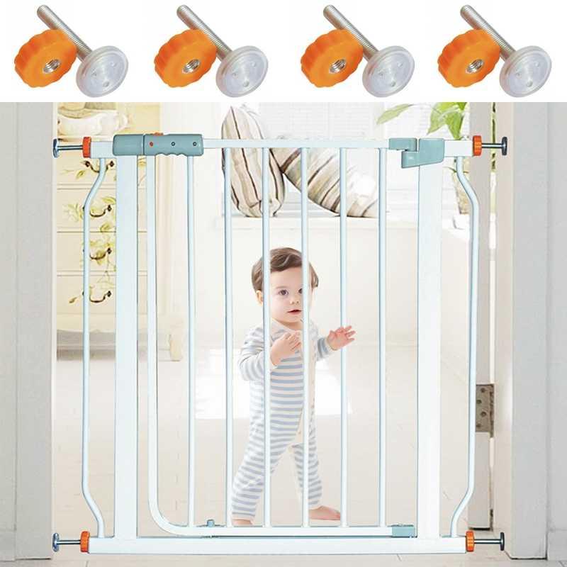 4pcs לחץ תינוק שער בורג הברגה ציר מוטות ללכת Thru שערים אבזר-M10x10 MM