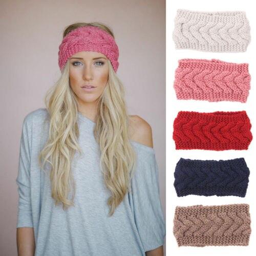 Women Crochet Headband Knit Flower Hairband Multicolor Ear Warmer Winter  Headwrap Headwear a915b76b5d8