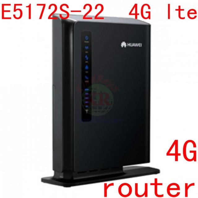 unlock huawei E5172 Huawei E5172s 22 4g lte mifi Router LTE 4g wifi dongle  cpe router 150mbps pk e5186 760s y855 y854 e589-in Wired Routers from