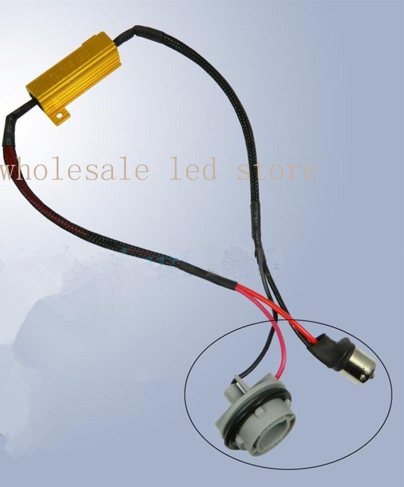 1 pair 1156 No Error Load Resistor No Decoder Berkedip untuk Lampu - Lampu mobil - Foto 1