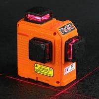Кайтянь лазерный уровень 12 линий 360 градусов Поворотный Nivel лазерной 3D вертикальные и горизонтальные лазеры красный луч линии измерения стр
