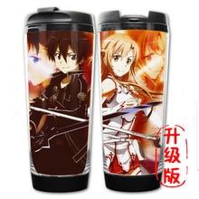 HEIßER VERKAUF Anime Cup Schwert Art Online SAO 6 Modelle doppelte Isolierung Kunststoff und Edelstahl Becher Kaffee Tasse wasser flaschen