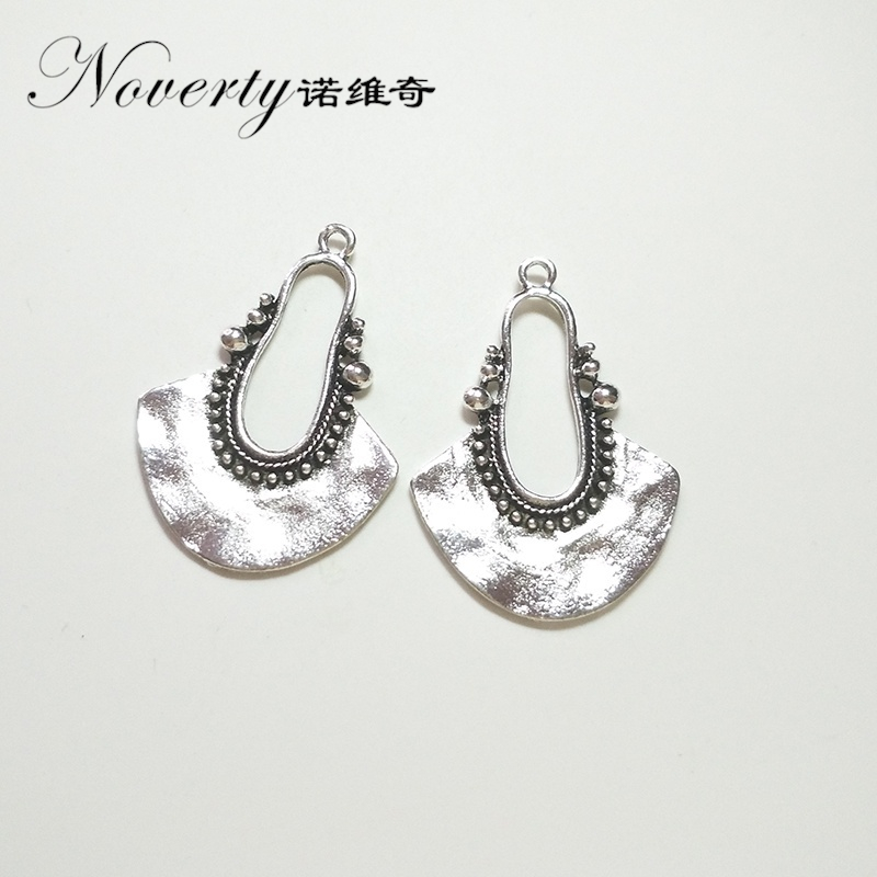 New Fashion 5pcs 40*29MM Retro Zinc Alloy Silver Charms Pendant for DIY Jewelry Earring Accessories цена и фото