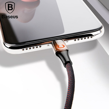 Baseus Intelligent Power off USB Charging Cable for iPhone X 8 6 breathing lighting USB Cable Automatic power-off Charger Cable