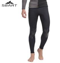 SBART Unisex 3MM Neoprene Super Stretch Keep Warm Wetsuit Diving Suit Long Pants For Men Wet