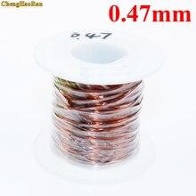 ChengHaoRan 0.47mm 1 m QZY 2 180 yüksek sıcaklığa dayanıklı kablo mıknatıs tel 50 m Emaye tel Manyetik Bobin Sarma 1 metre