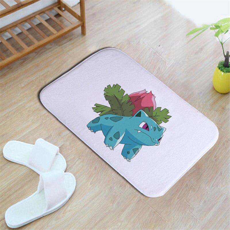 lovely naughty colorized cartoon pet elves 40*60cm Entrance Indoor Coral Fleece Non-slip Floor Mat Doormat