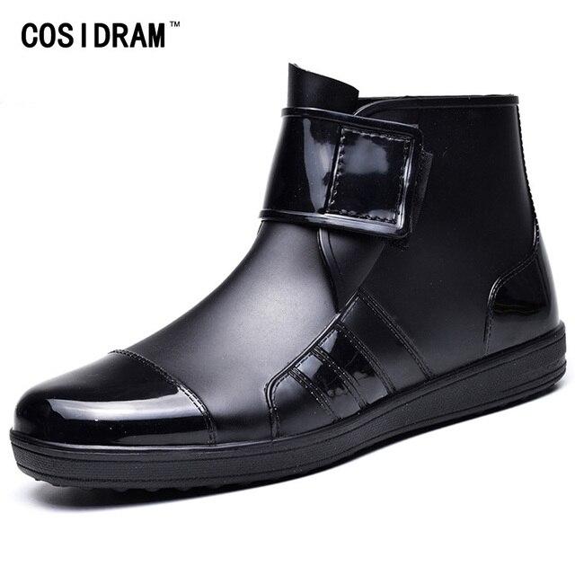 Cosidram Для мужчин резиновые Сапоги и ботинки для девочек ботильоны водонепроницаемая обувь мужские Botas резиновые короткие непромокаемые Сапоги и ботинки для девочек rme-337