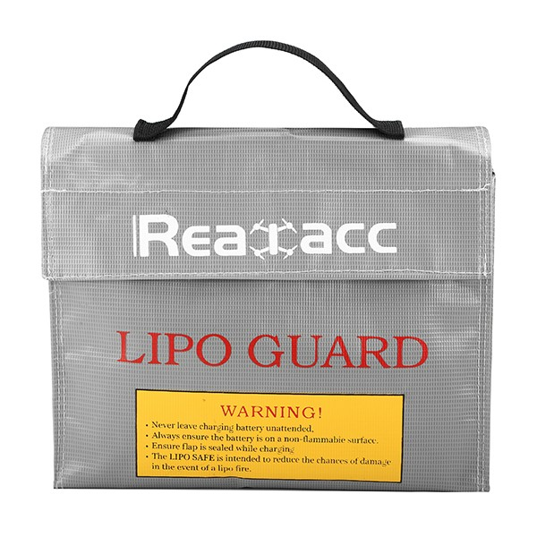 Realacc LiPo Battery Portable Explosion-Proof Safety Bag  Lipo Battery Protection Guard Bag 240x180x65mm With Handle large capacity suitcase explosion proof travel transport portable safety box storage case bag for dji spark accessories pgytech