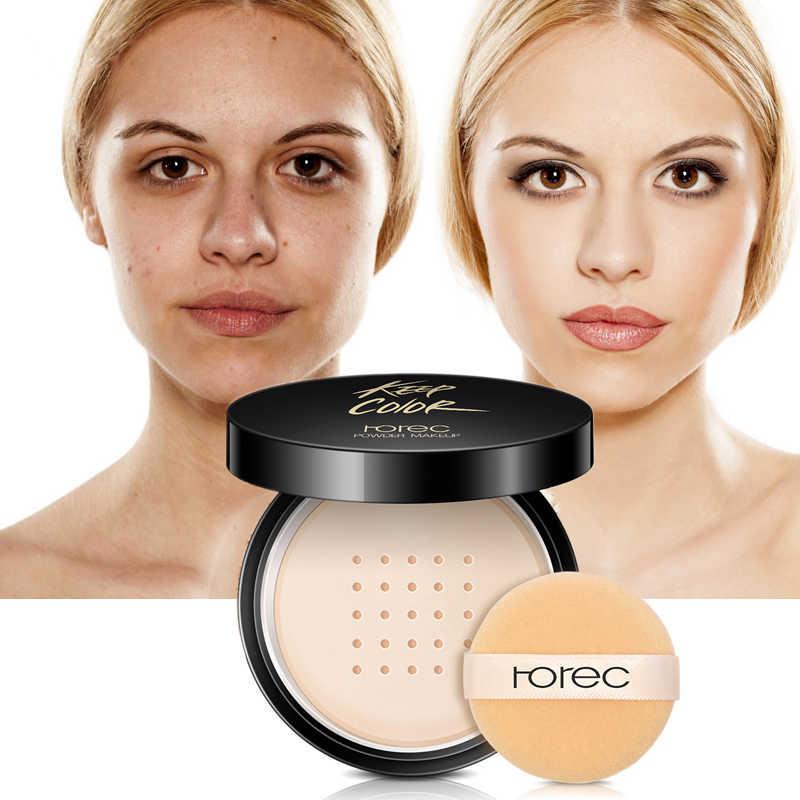 ROREC матовая основа сыпучий минеральный порошок, фиксирующая пудра для лица, полупрозрачная основа для макияжа, теплый Шелковый консилер для лица, Шариковые румяна