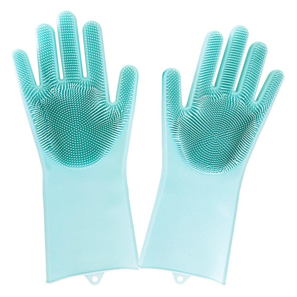 1 satz Kreative Magie Silikon Dish Waschen Reinigung Handschuhe Wärme Resistant Kochen Backen BBQ Backofen Küche Wäscher Zubehör