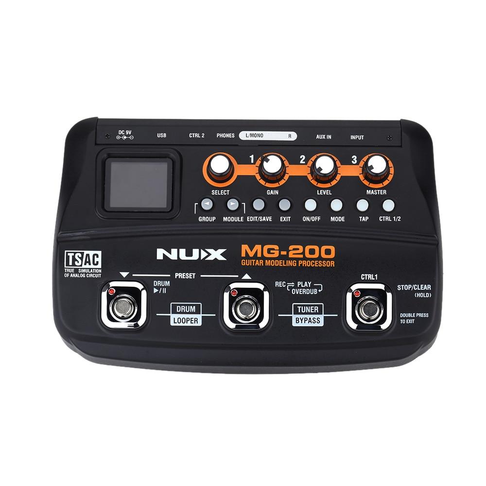 nux mg 200 electr guitar effect pedal guitar modeling processor guitar multi effects processor. Black Bedroom Furniture Sets. Home Design Ideas