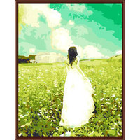 Hand Painted Angels In The Clouds Flowers Ocean Diy Painting By Numbers Wall Art Cuadros Decoracion