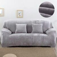 Plush Sofa Slipcover Fashion Couch Cover Grey Sofa Cover Sofa Cover Towel Single Two Three Four