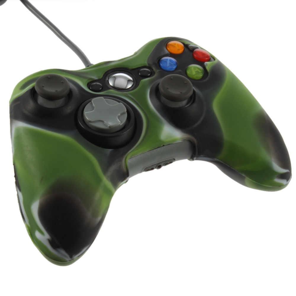 1 Pc Cool Army Camouflage ซิลิโคนฝาครอบจอยสติ๊กเจลผิวป้องกันกรณีสำหรับ Xbox 360 Wireless Controller ใหม่ล่าสุด