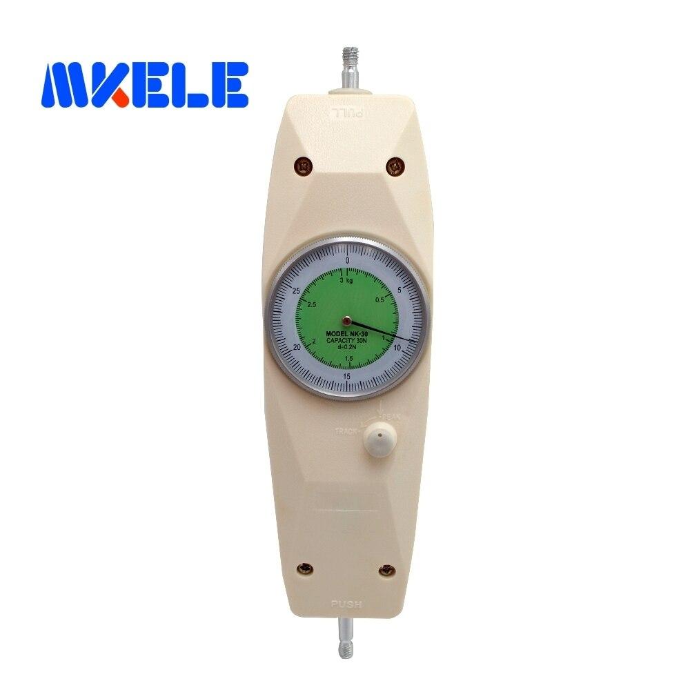NK-30 30N Pointer Dynamometer Analog Push Pull Force Gauge Tester Meter nk 200 analog pointer force gauge pull