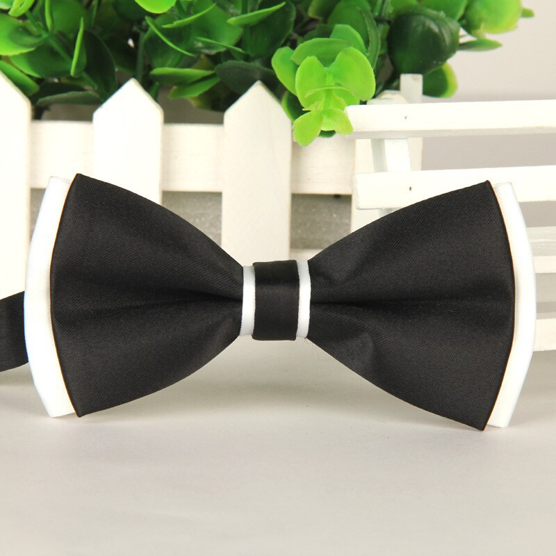 2014 New High-end Men's Butterfly Cravat Black And White Gravatas Borboleta Gentleman Elegant Bow Tie  1pcs Lots