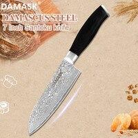 Damask 7 inch Blade Damascus Santoku Knife Damascus Japan Santoku Chef Knives VG10 Core Sharp Cutlery 67 Layer Nakiri Chopping