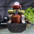 Free Shipping fountain water fountain feng shui wheel  crystal ball pavilions wedding humidifier furnishing colorful design