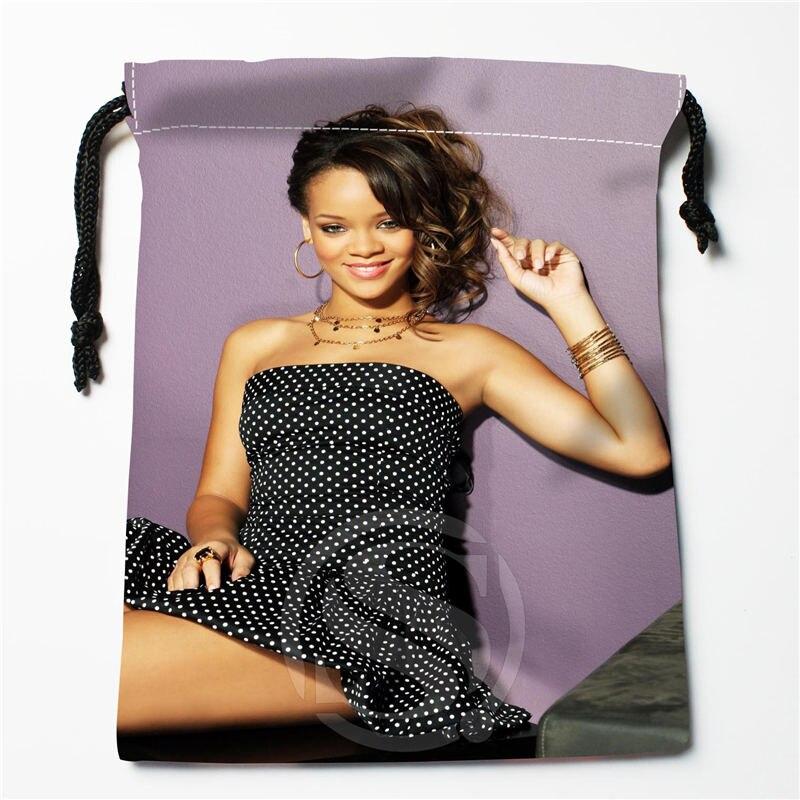 W-139 New Rihanna &W Custom Logo Printed  Receive Bag  Bag Compression Type Drawstring Bags Size 18X22cm R801R139TQ