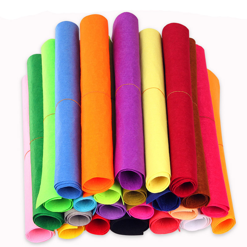 Colorful Fabric Scrapbook Manual Course Materials Home Sewing DIY Production 1mm Thickness Handicraft  Non-woven Felt Cloth